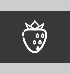 strawberry icon sign symbol vector image