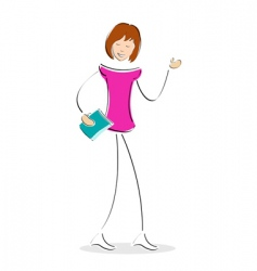 student with book vector image