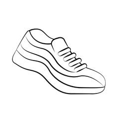 tennis shoes sport isolated icon vector image