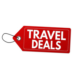 Travel deals label or price tag vector
