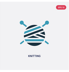 Two color knitting icon from people skills vector