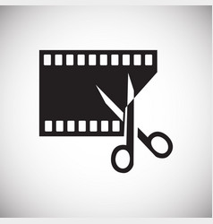 video edit icon on white background for graphic vector image