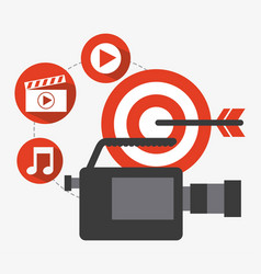 video marketing design vector image