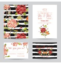 Wedding Invitation or Congratulation Card Set vector