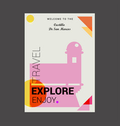 Welcome to the castillo de san marcos st vector