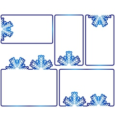 winter text boxes vector image