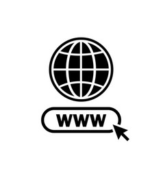 www internet icon www search bar icon website icon vector image