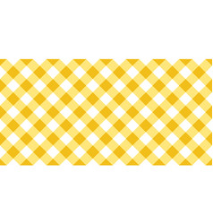 Yellow and white argyle tablecloth seamless patter vector