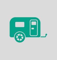 Camping family caravan car icon vector