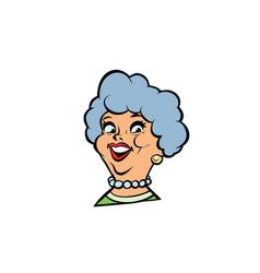 funny adult woman fashionable grandmother portrait vector image vector image
