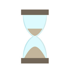 hourglass with flowing sand vector image