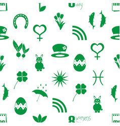 march month theme set of simple icons pattern vector image
