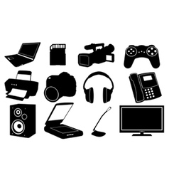 of different electronics vector image vector image