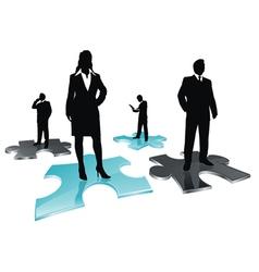 puzzle team vector image