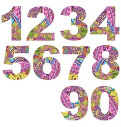 Set arabic numerals vector image