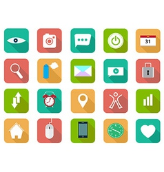 Set of flat icons set vector image