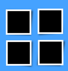 set of retro photo frames vector image vector image