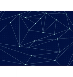 Cosmic polygonal line background vector image