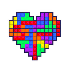 mosaic heart colored vector image vector image