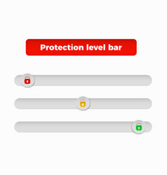 protection level bar vector image