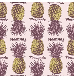 Seamless pineapple background vector image