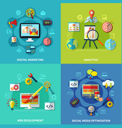 seo square compositions set vector image
