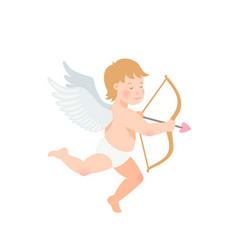 valentine s day of funny cupid with vector image