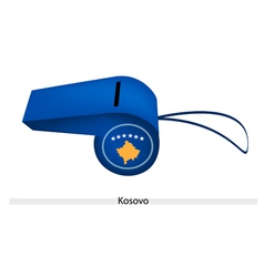A Beautiful Blue Whistle of Kosovo Flag vector image vector image