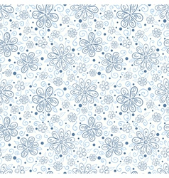 Seamless floral pattern with hand drawn flowers vector image vector image