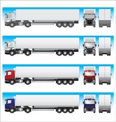 Semi-trailer truck vector image