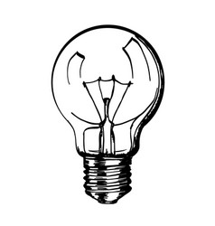 sketch of hand drawn lamp vector image vector image