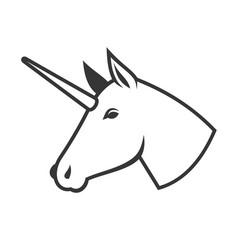 unicorn head icon logo sign vector image