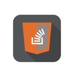 web development shield sign vector image vector image