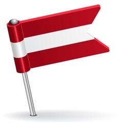 Austrian pin icon flag vector image vector image