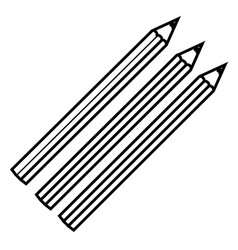 figure colors pencils icon stock vector image vector image