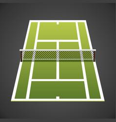 tennis court isometric vector image vector image