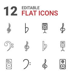 12 treble icons vector image