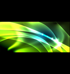 abstract background shiny design neon waves with vector image