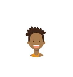african children face happy boy portrait on white vector image