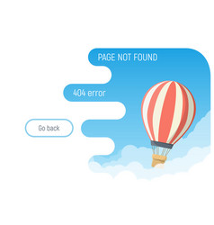Air balloon 404 page vector