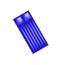 Air mattress in blue design with shadow vector