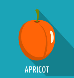 Apricot icon flat style vector