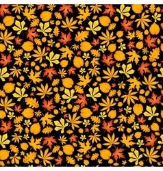 Autumn falling maple and oak leaves seamless vector