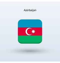 Azerbaijan flag icon vector image
