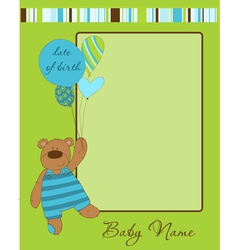 baboy arrival card with frame vector image