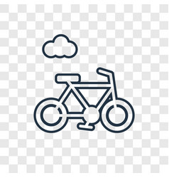 bike concept linear icon isolated on transparent vector image