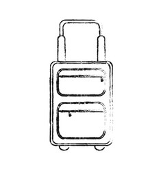 Black blurred silhouette travel suitcase with vector