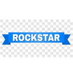 Blue tape with rockstar text vector