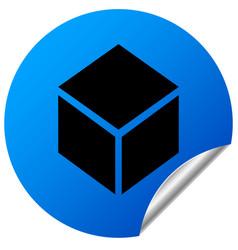 box on sticker vector image