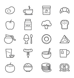 Breakfast Icons Line vector
